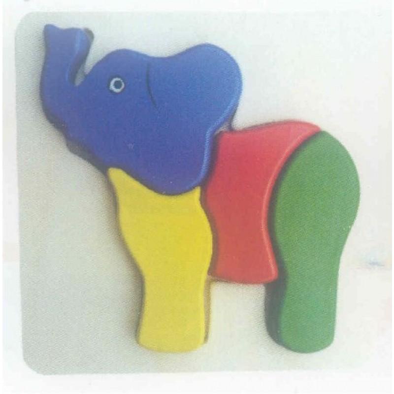 3D Inset Elephant