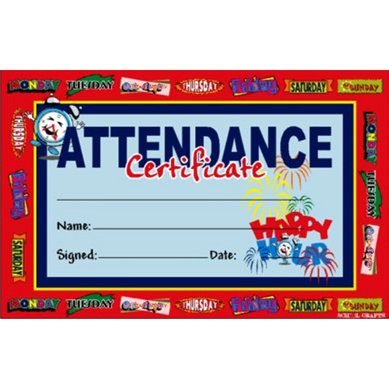 Attendance Certifica...