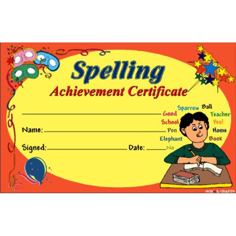 Spelling Achievement...