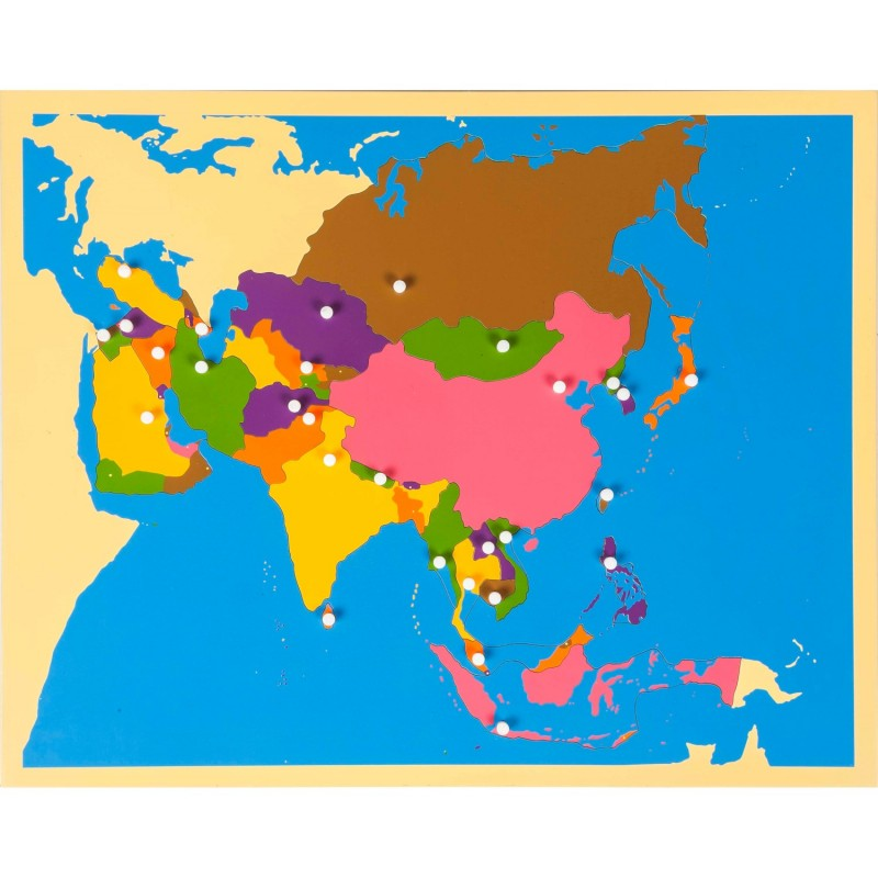 Map of Asia Puzzle