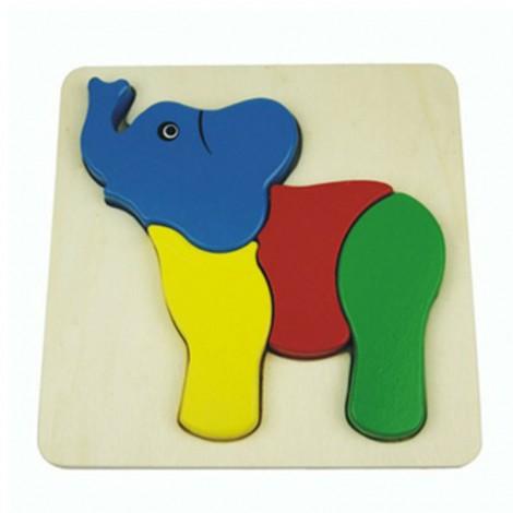 3D Elephant Inset Puzzle