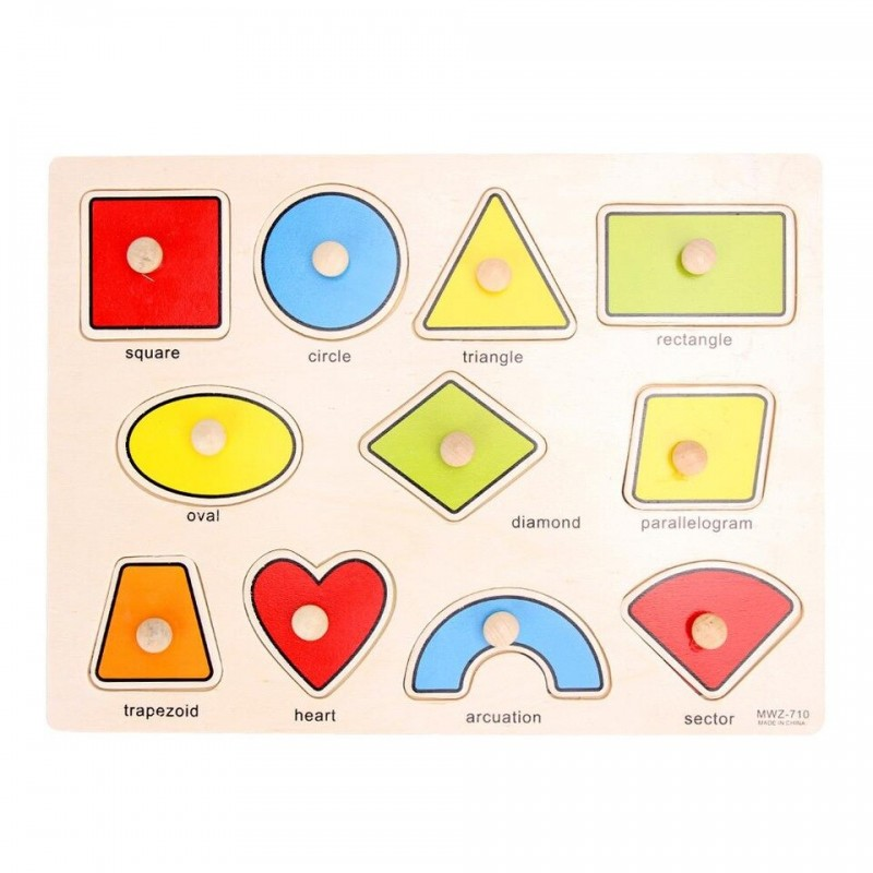 Geometric Shapes Inset Pu...