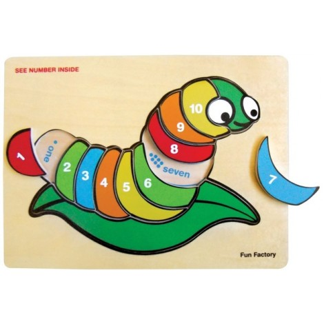 Silk Worm 123 Inset Puzzle