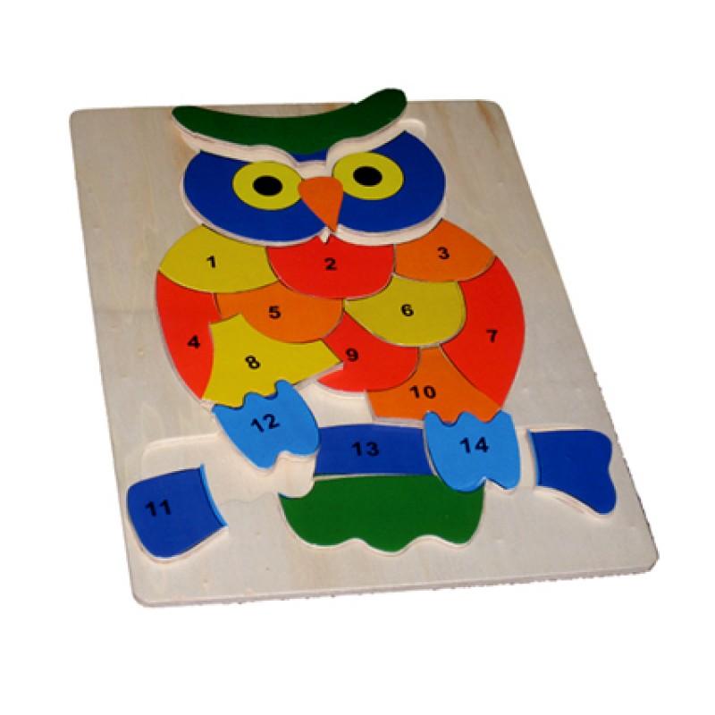 Owl 123 Inset Puzzle