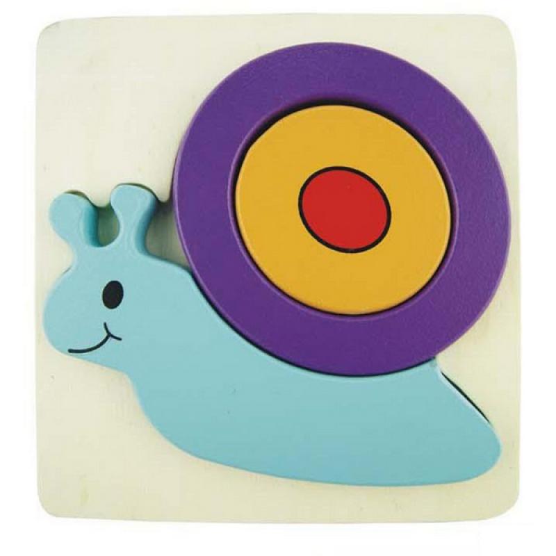 3D Snail Inset Puzzl...