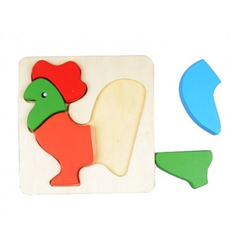3D Chicken Inset Puzzle