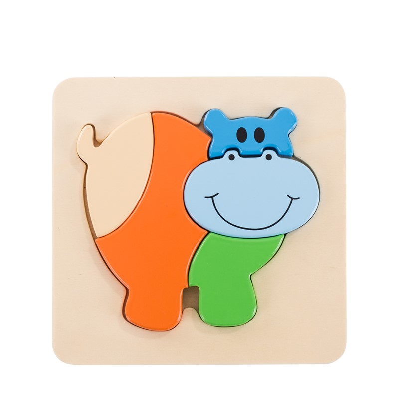 3D Hippo Inset Puzzl...