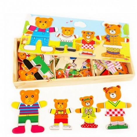 Bear Dressing Large Puzzle