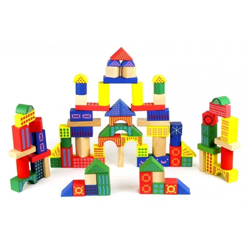 Wooden Blocks 88 pcs...