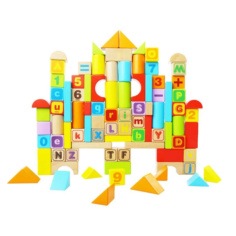 Wooden Blocks 88 pcs