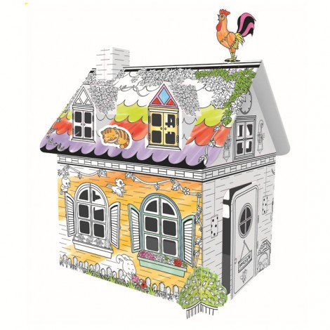 DIY Doodle Cottage Cardboard Playhouse